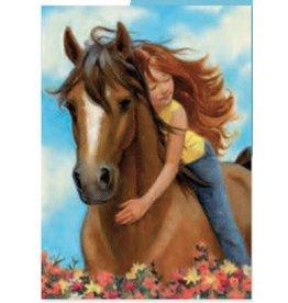 Peaceable Kingdom Horse Birthday Card