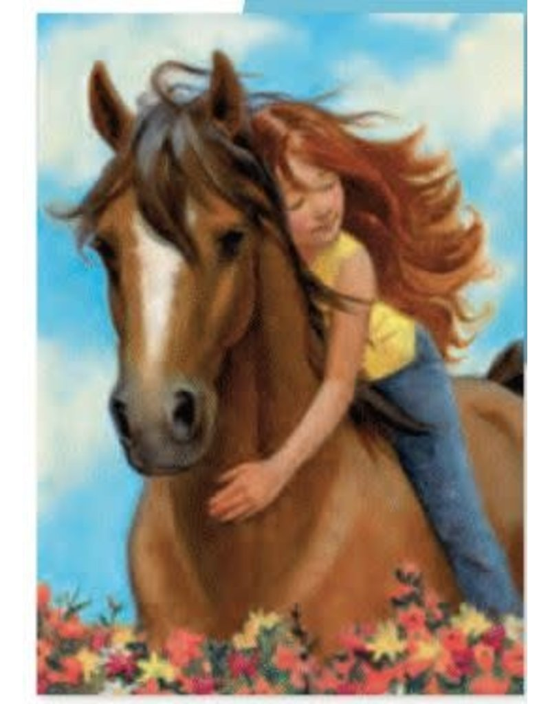 Peaceable Kingdom Horse Birthday Card