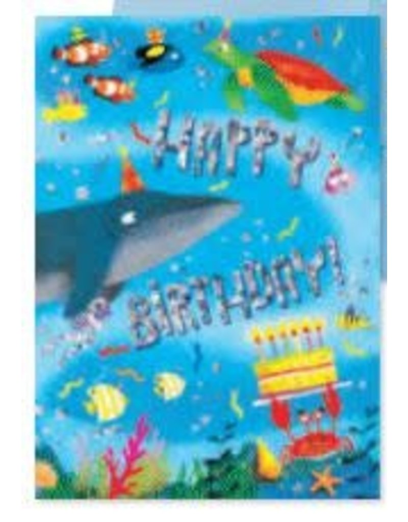 Peaceable Kingdom Oceans of Fun Birthday Card