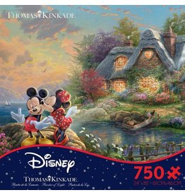 Ceaco Mickey + Minnie Sweetheart Cove 750 pc