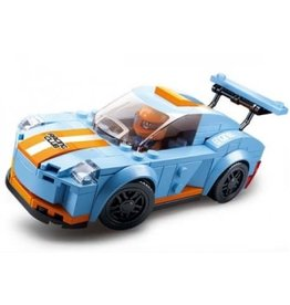 Texas Toy Blue/Orange Race Car 148 pc