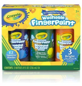 Crayola 3 ct. 8-oz. Washable Fingerpaint, Bright Colors