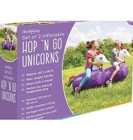 HearthSong Inflatable Hop 'N Go Unicorns