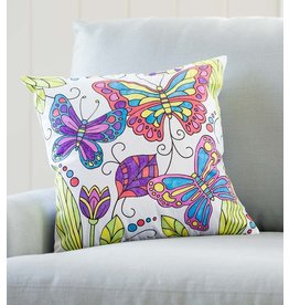 HearthSong Color Your Own Butterfly Pillow