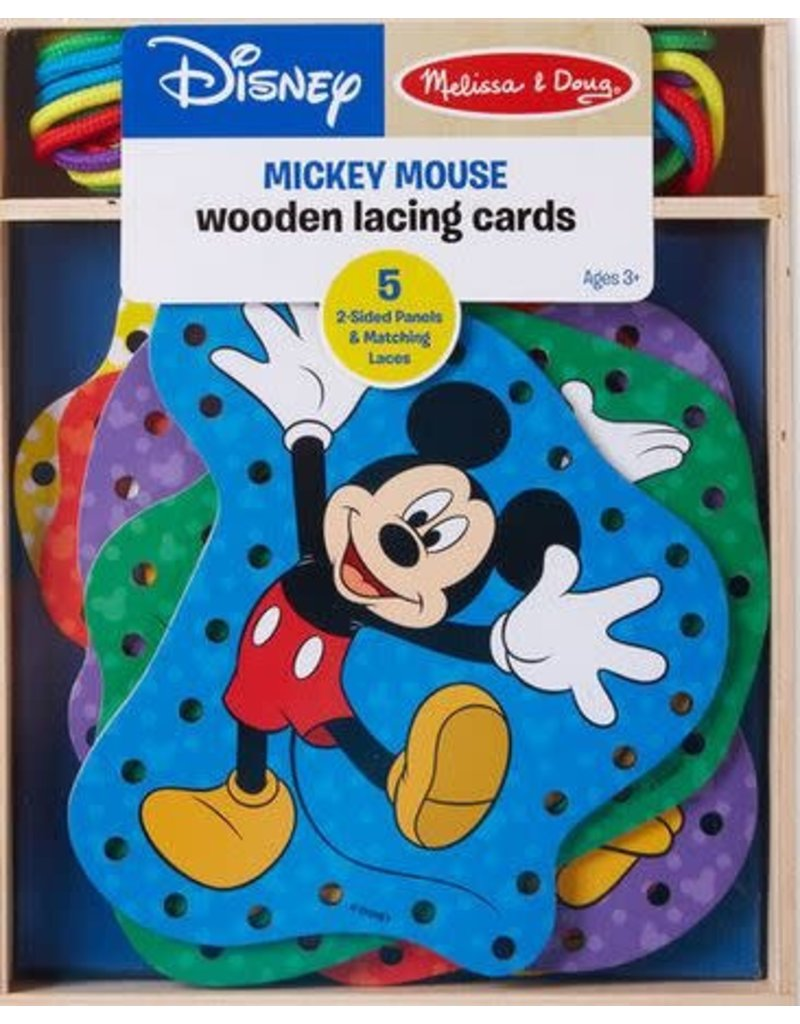 Melissa & Doug Mickey Mouse Wooden Lacing Cards