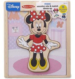 Melissa and Doug Disney Minnie Wooden Mix & Match Dress-Up