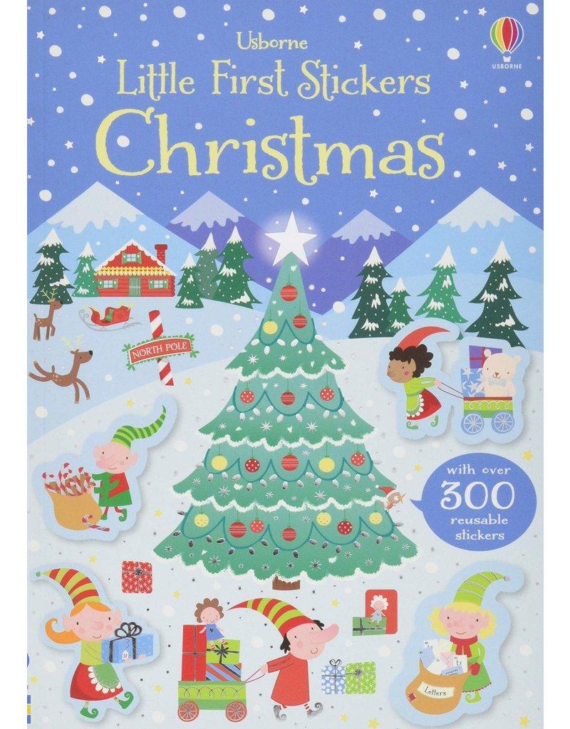 Usborne Little Stickers Christmas