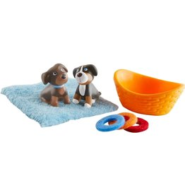 Haba USA Little Friends  Brown & Tricolor Puppies