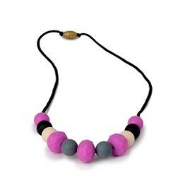 Chew Beads Chelsea Necklace - Fushia assort