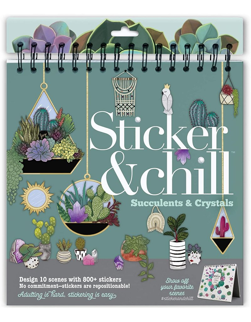 Ann Williams Sticker & Chill Succulents & Crystals
