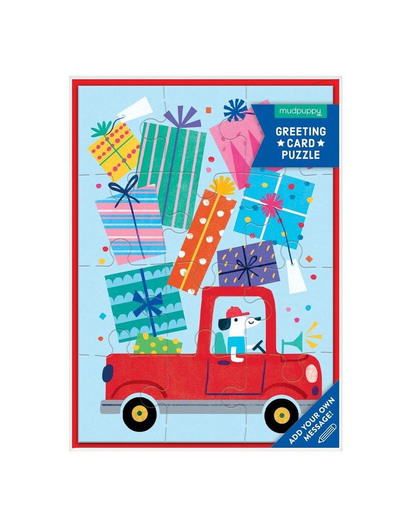 Mudpuppy Birthday Truck Greeting Card Puzzle
