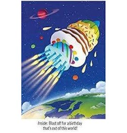 Peaceable Kingdom Blast Off Cake BD Card