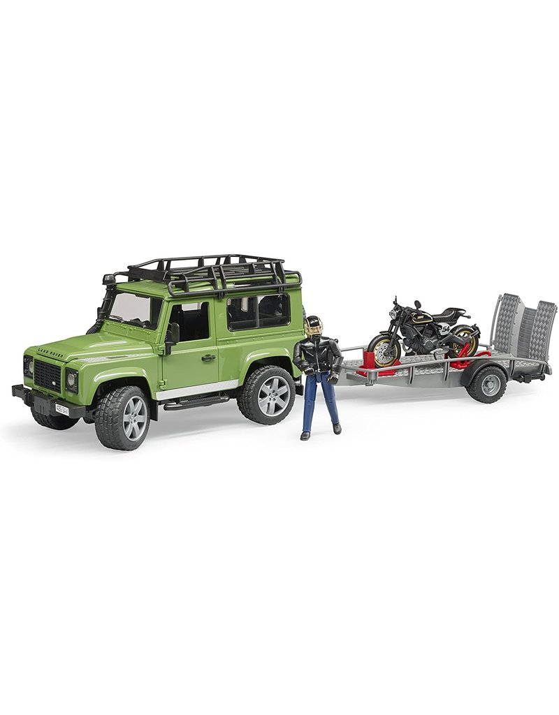 Bruder Land Rover with Ducati and Trailer