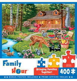 Masterpieces Puzzles Creekside Gathering 400 pc Family