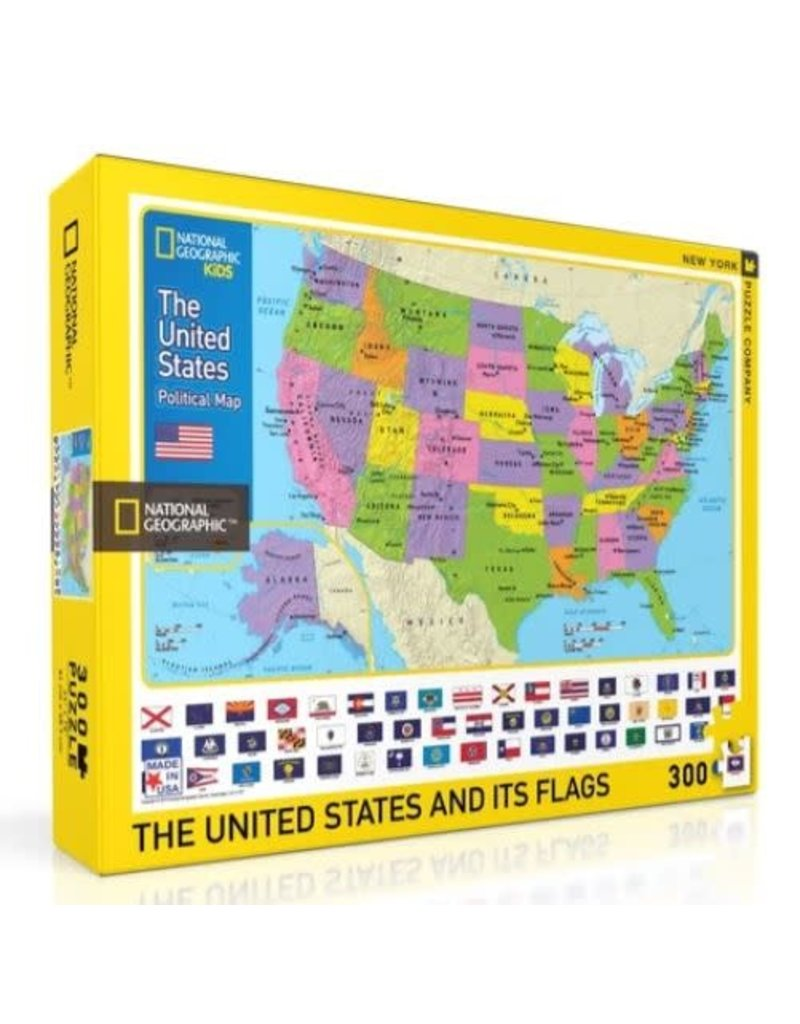 New York Puzzle Co The USA Kids Map 300 pc