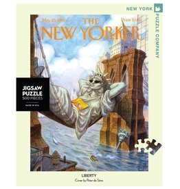 New York Puzzle Co The New Yorker Liberty 500 pc