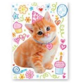 Peaceable Kingdom Glitter Kitty BD Card