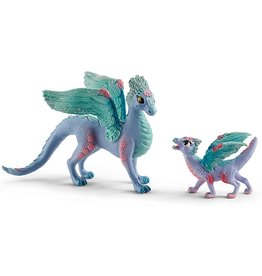 Schleich Flower dragon and baby