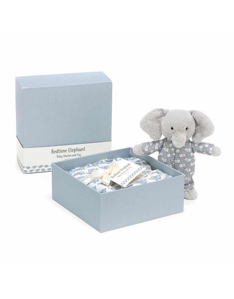 Jellycat Bedtime Elephant Baby & Muslin Set