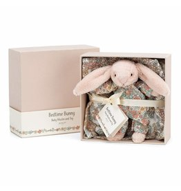 Jellycat Bedtime Blossom Bunny Baby & Muslin Set