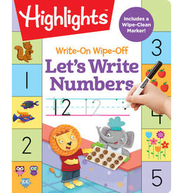 Highlights Write On Wipe Off - Let's Write Numbers