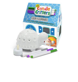 Bright Stripes LED Candle Critters Turtle