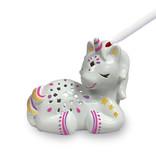 Bright Stripes LED Candle Critters Unicorn
