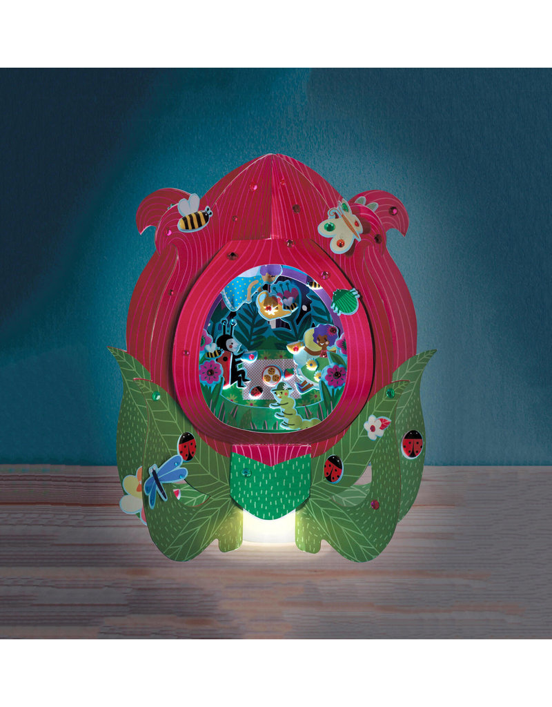 Bright Stripes Lantern Lands Fairy Flower Party