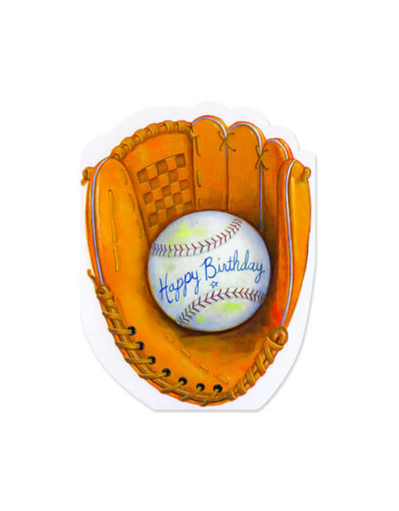 Peaceable Kingdom Baseball Mitt Birthday Card