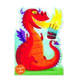 Peaceable Kingdom Fire Breathing Dragon Scratch & Sniff  Birthday Card