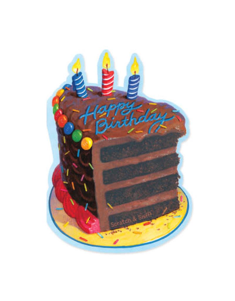 Peaceable Kingdom Chocolate Cake Birthday Card