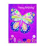 Peaceable Kingdom Foil Butterfly BD Card