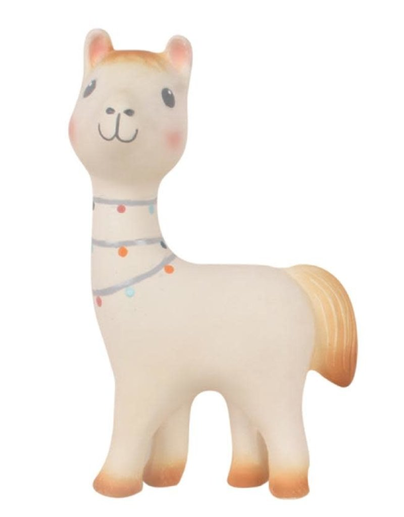 Tikiri Lilith the Llama - All Rubber Rattle Toy