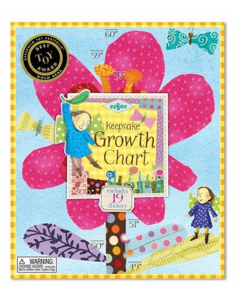 Eeboo Hot Pink Flower Growth Chart