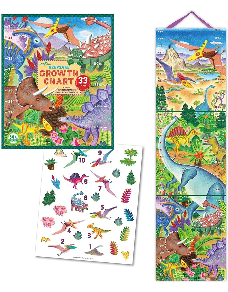 Eeboo Grow Like a Dinosaur Growth Chart
