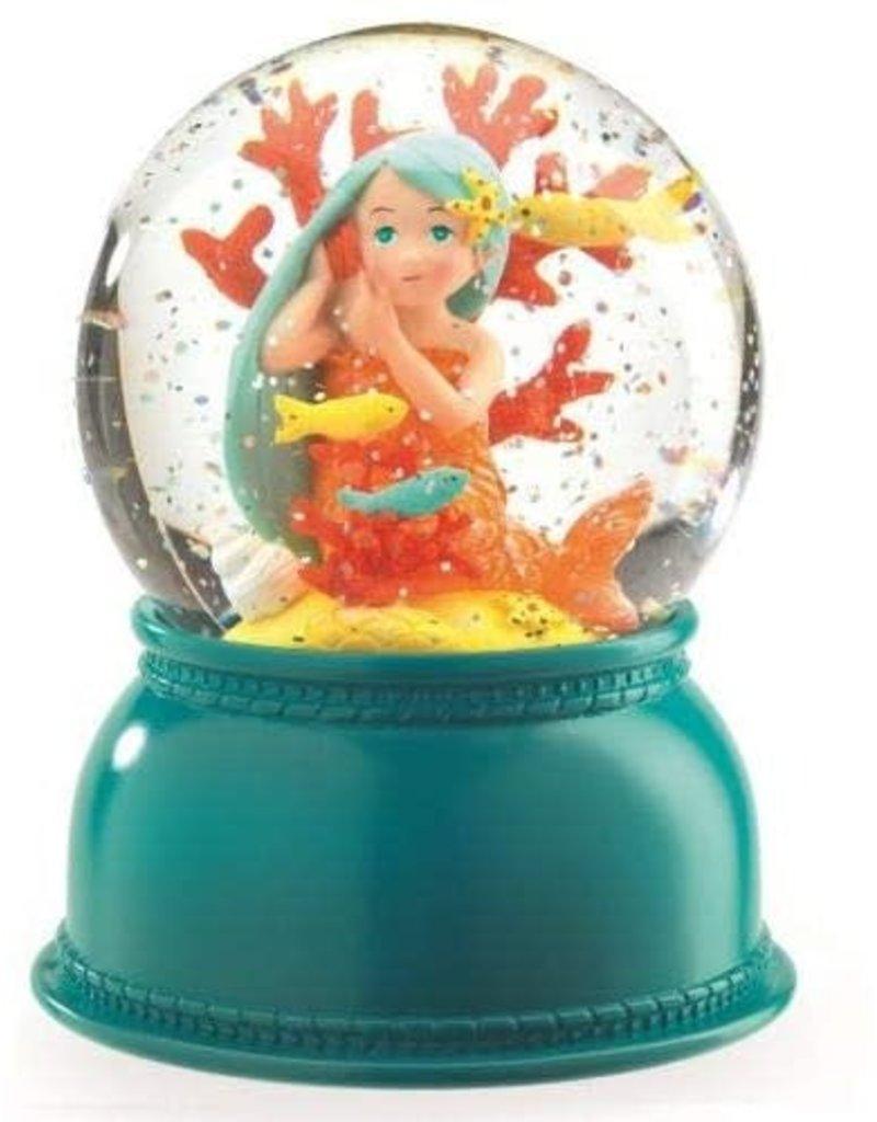 djeco Mermaid Snowglobe Night Light