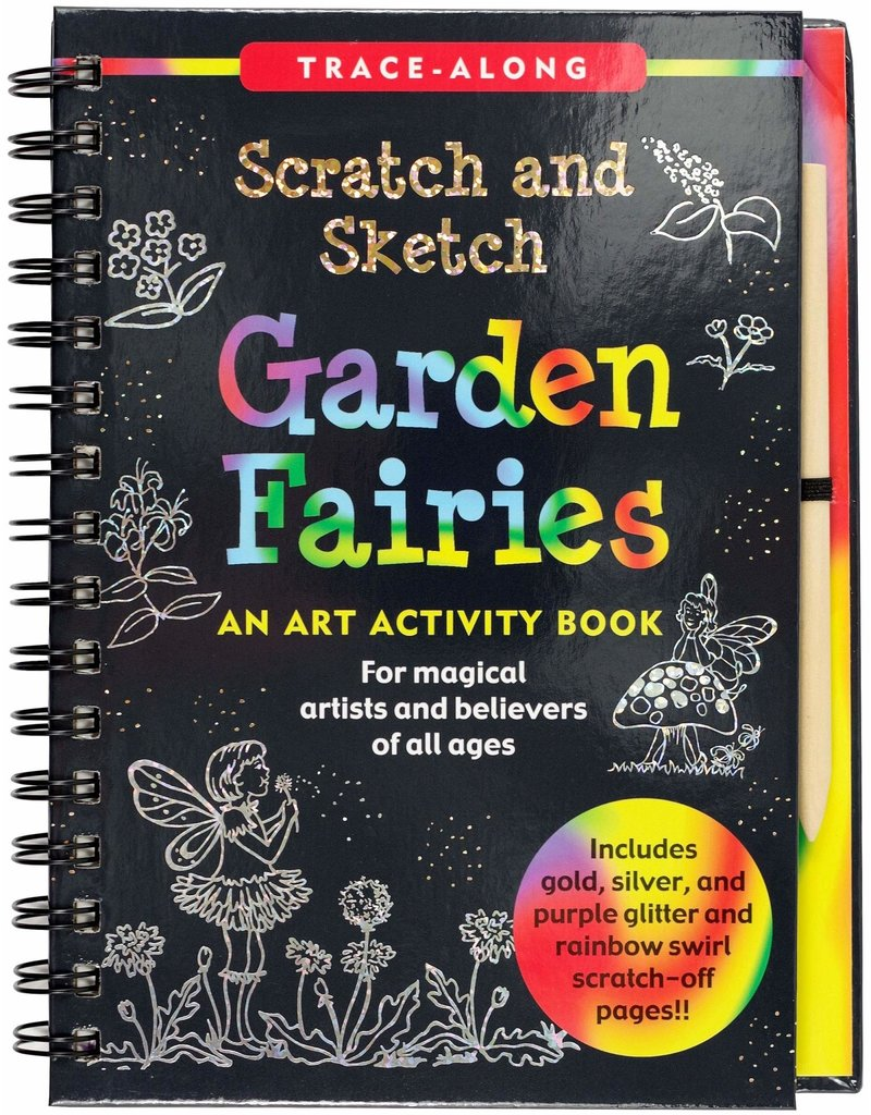 Peter Pauper Trace Along Scratch & Sketch Garden Fairies