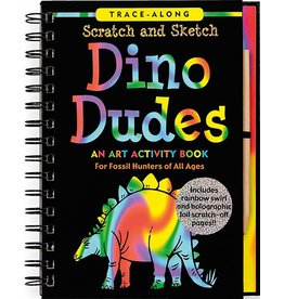 Peter Pauper Scratch and Sketch Dino Dudes