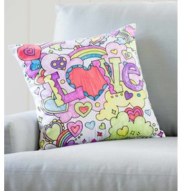 HearthSong Color Your Own Hearts Pillow