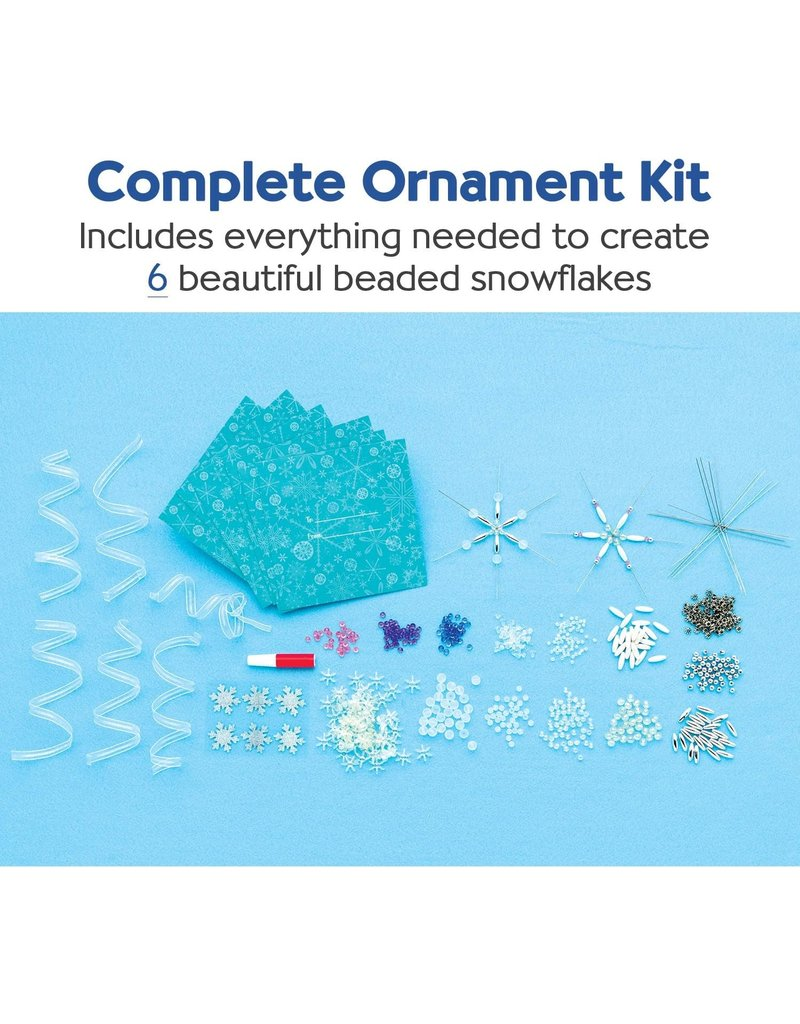 Faber-Castell Beaded Snowflake Ornaments