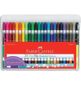 Faber Castel Duo Tip Washable Markers 24 ct