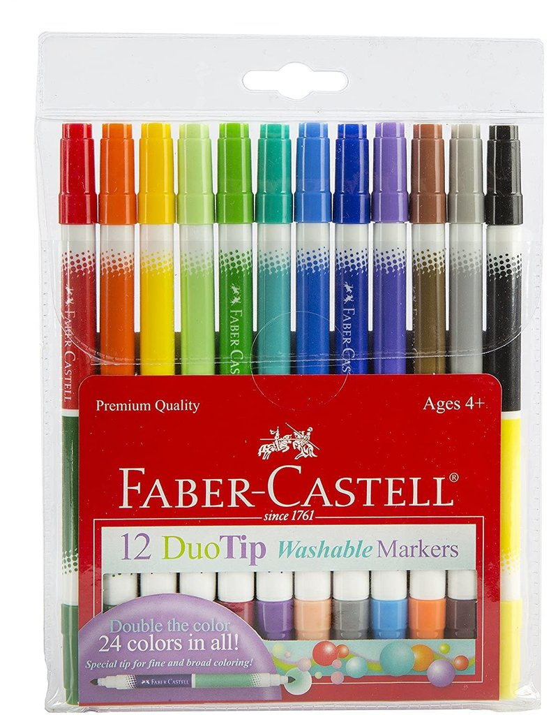 Faber Castel Duo Tip Washable Markers 12 ct