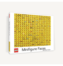 Chronicle Books Lego Minifigure Faces 1000 pc puzzle