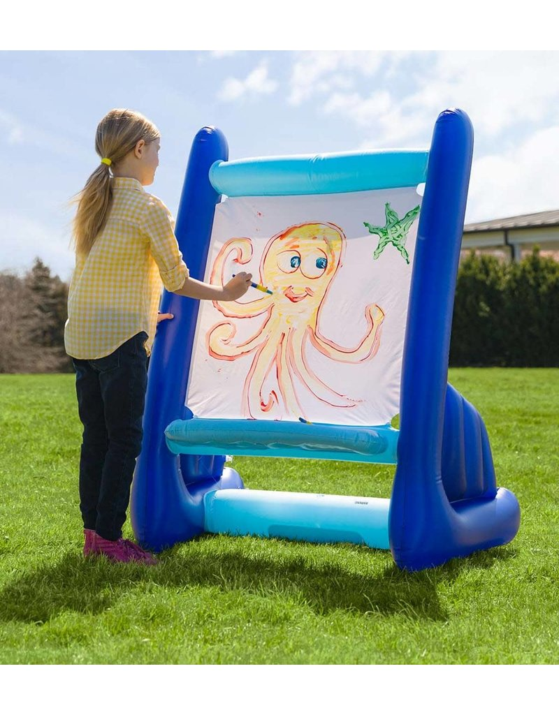 HearthSong Inflatable Easel w/Paints