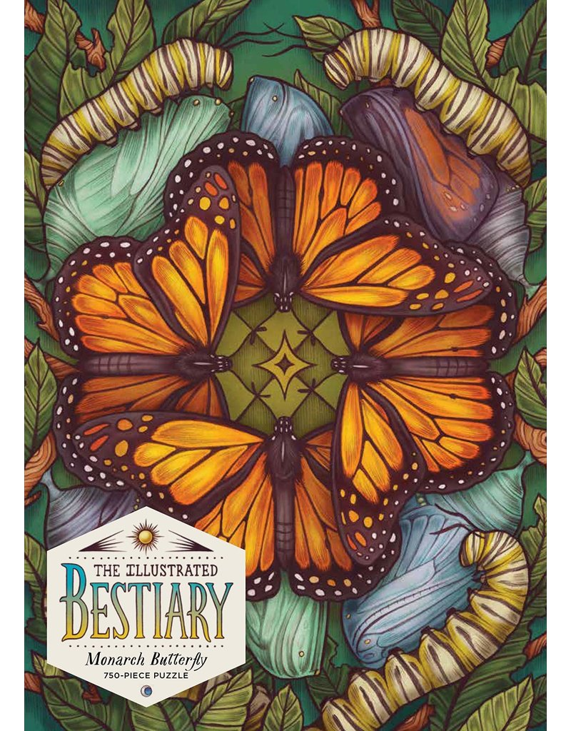 Workman Pub Illustrated Bestiary: Monarch Butterfly 750 pc