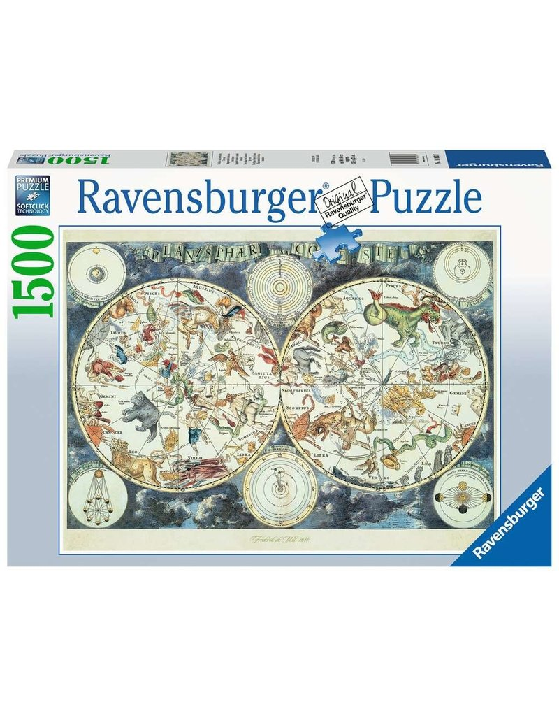 Ravensburger World Map of Fantastic Beasts 1500 pc