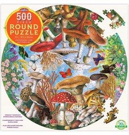 Eeboo Mushrooms and Butterflies 500 pc Round
