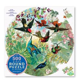 Eeboo Hummingbirds 500 pc Round