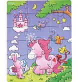 Haba USA 3 puzzles - Unicorn Glitterluck