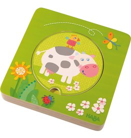 Haba USA On the Farm Wooden Puzzle